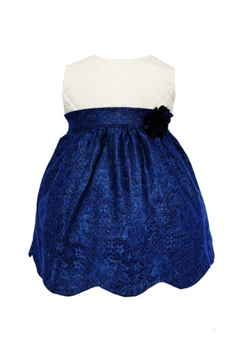 Era Maya white and blue Deluxe Ivory and Navy Blue Scallop Hem Dress 1DB7DKA4DE7529GS_1