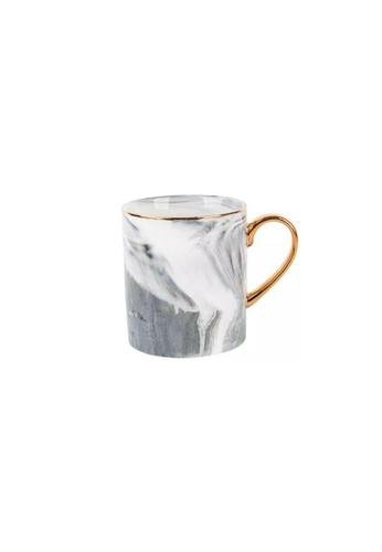 DILAS HOME Gold x Marble Effect Mug (Marbled Grey) 73257HLB6A1256GS_1