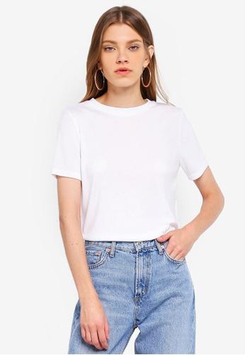 TOPSHOP white Premium Clean T-Shirt F6E51AA954C711GS_1