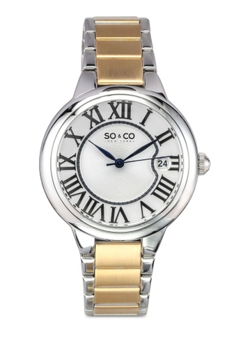SO&CO silver and gold Madison Watch 5052B SO540AC0SHMRMY_1
