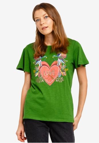 ESPRIT green Short Sleeve T-Shirt 100C1AA739A8ABGS_1
