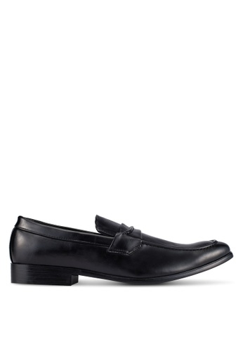 UniqTee black Business Dress Shoes With Strap Detail UN097SH0S21SMY_1