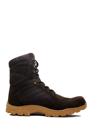 Cut Engineer brown Cut Engineer Zipper Taktical High Safety Boots Iron Dark Brown CU226SH93VCGID_1