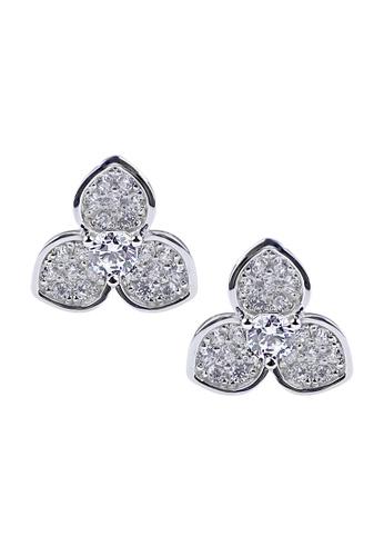 The LoveMark silver Trifoliolate Earrings TH516AC86RGBPH_1