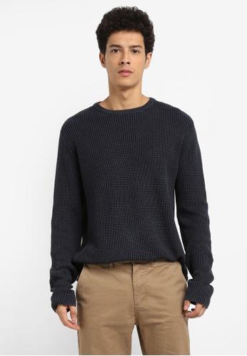 Cotton On navy Split Hem Knit Jumper C9688AA077D947GS_1