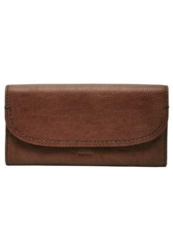 Fossil brown Cleo Clutch SWL3089213 101F8ACFD4F34CGS_1