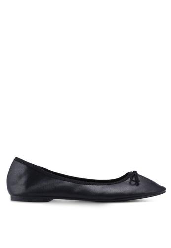 TOPSHOP black Bow Detail Ballet Pumps 99AD0SH04356B7GS_1