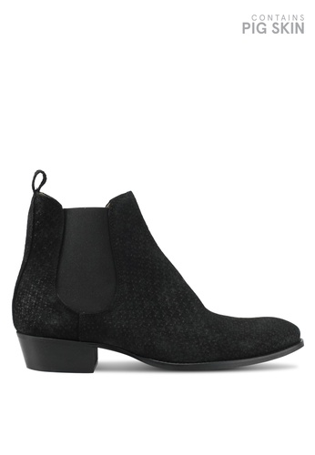 Topman black Black South Chelsea Boots TO413SH0SLY5MY_1