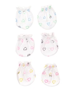 Mittens Hearts (Set Of 6)
