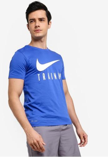 Nike blue As M Nike Dry Nike Train Tee 5B110AA49165C9GS_1