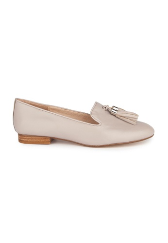 MAUD FRIZON grey Leather Round Toe Loafers With Tassels 29C60SHF5FEAE7GS_1