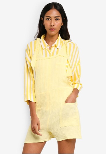 Cotton On yellow Woven Jessica Playsuit 6B544AAB8426D6GS_1