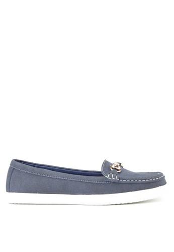 De LUCA blue and multi Elegance Flat Moccasins Sepatu Wanita 58AF9SHBAB0548GS_1