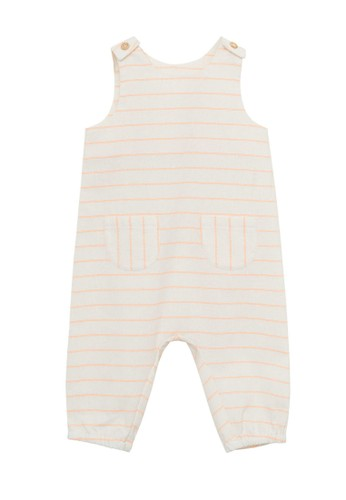 MANGO BABY white Striped Cotton Dungarees B2D8BKABDD0E6AGS_1