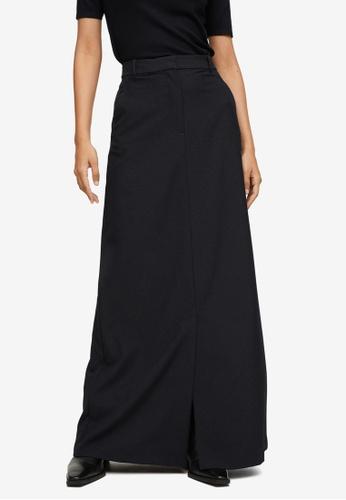 Mango black Slit Hem Skirt 6F201AAFAC6A5EGS_1