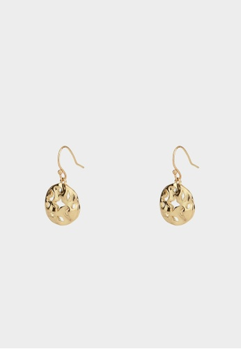 Pomelo gold Abstract Galaxy Cut Out Plate Earrings - Gold 6DDA3ACE3F3462GS_1