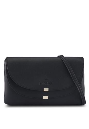 Perllini&Mel black Faux Leather Sling Bag 8EC57ACCDF2D44GS_1