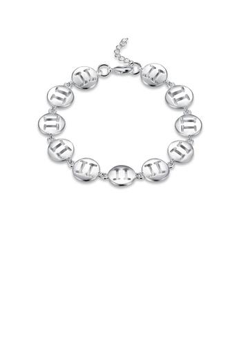 Glamorousky silver Simple Fashion Gemini Bracelet F5B2BACAB5FB88GS_1