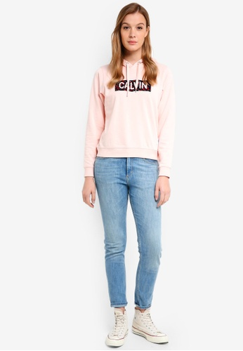 Calvin Klein pink Long Sleeve Fa Graphic Hoodie - Calvin Klein Jeans 7A161AAAD2CD8CGS_1