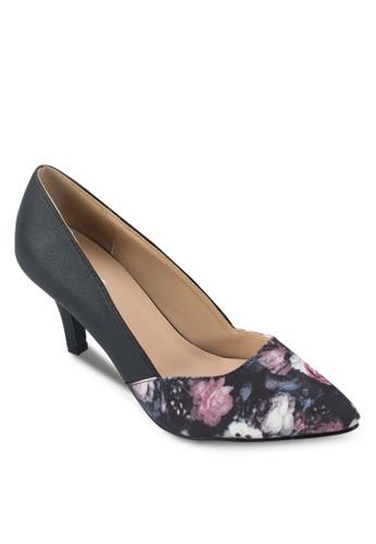 Maggie 花卉印花尖頭高跟鞋zalora 台灣門市, 女鞋, 厚底高跟鞋