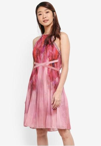 Little Mistress pink Print Placement Mini Dress E60F1AA4AB3CC2GS_1