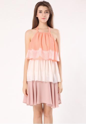 Florina Layered Ruffle Lace Dress