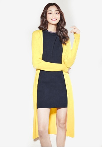 NAIN yellow Long Cardigan 06FFEAA48E65BCGS_1