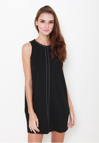 Leline Style black Rayne Shift Dress LE802AA83JEUSG_1