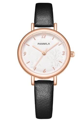 Panmila black Panmila Jam Tangan Wanita P0493S-DZ1RHW Black DF4C4AC90D510BGS_1