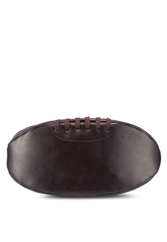 Burton Menswear London brown Rugby Ball Wash Bag 74C2DAC780BBC8GS_1