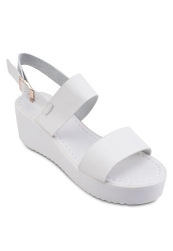 Jorah 一字帶厚zalora時尚購物網評價底涼鞋, 女鞋, 鞋