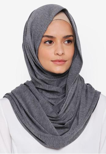 Lubna grey Basic Jersey Shawl D8744AA91F3E97GS_1