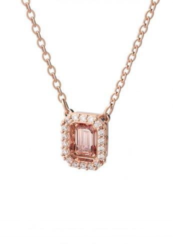 Swarovski pink Millenia Necklace Octagon Cut Swarovski Zirconia Pink Rose Gold Tone Plated 075C2AC66BCA39GS_1