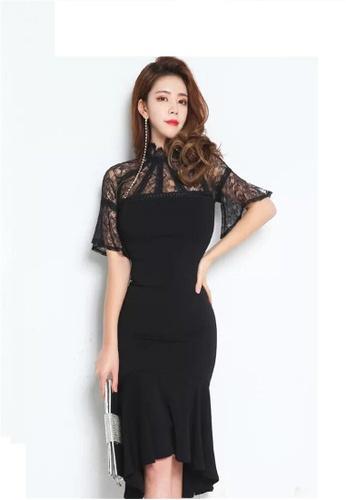 Buy Crystal Korea Fashion Spring Dress Ladies Slim Fishtail Dress