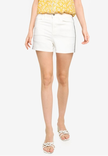 Springfield white Multicoloured Band Denim Shorts DFC59AA723C3B9GS_1