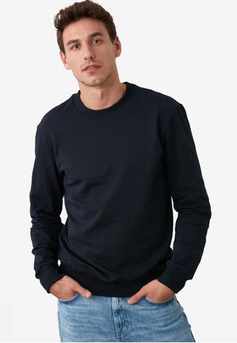 Trendyol navy Navy Sweatshirt A8566AAD10A01EGS_1