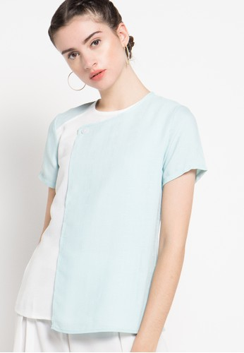 sophistix blue Ronna Blouse In Blue & Off White SO829AA38OXXID_1