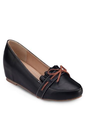 蝴蝶結esprit 鞋楔形莫卡辛鞋, 女鞋, 鞋