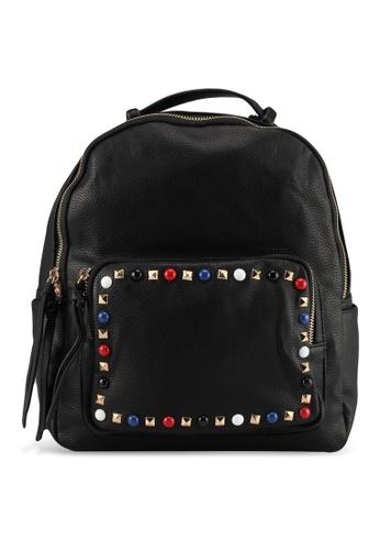 Perllini&Mel black Faux Leather Backpack 6071DAC1DDB9F7GS_1