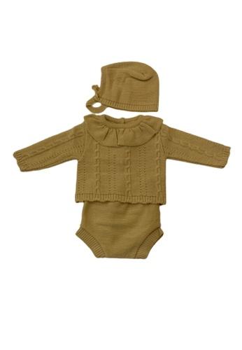 RAISING LITTLE brown Nara Outfit Set 29711KA08273BAGS_1