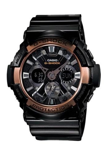 CASIO black Casio G-Shock Rose Gold and Black Resin Watch 2FB22ACE2E3CA0GS_1