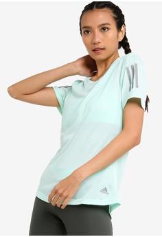 09157d58dc2 adidas green adidas performance adidas own the run tee cooler women  2F88DAAB1380E8GS_1