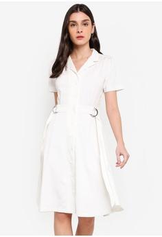 1eff263ea Dressing Paula white Rayon Shirt Dress 98CE5AAAAF407FGS 1