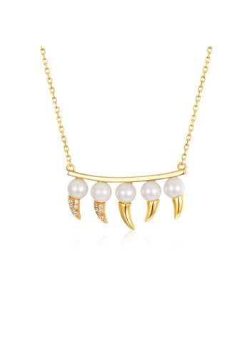 SUNSET 金色 Premium 925 Sliver Pearl Necklace 53657ACCA2A970GS_1