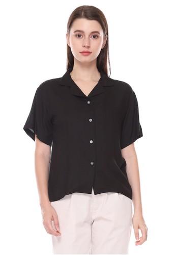 Sparse Label black SPARSE Women's Basic Shirt Black 610EFAA6DE3C33GS_1