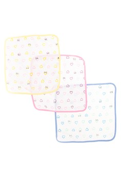 Milky Way Face Towel Hearts Set of 12