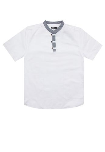 EDITION white Short Sleeve Woven Tunic F8DCCKA3CF5864GS_1