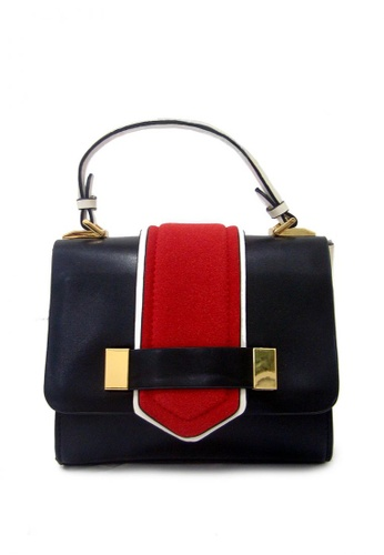 LULUGIFT black and red Lulugift Art Couture Sling Shoulder Bag Black LU989AC39YNCMY_1