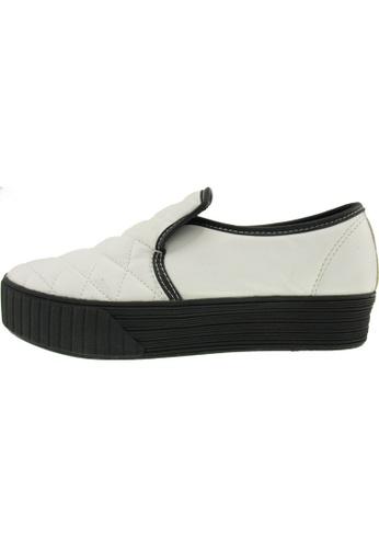 Maxstar 白色 新款韩国鞋C30-Stitch-TC時尚皮革布混合女白色 US Women Size MA345SH94HEZTW_1