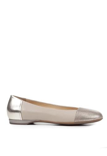 Geox brown D Lamulay Ballerina 851DCSH576A4A9GS_1